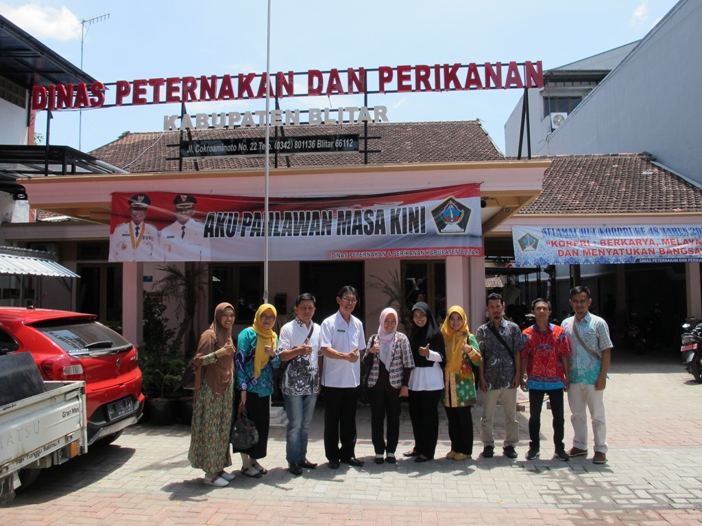 Study Referensi Dalam Rangka Pengembangan Potensi PAD Sektor Peternakan Dan Perikanan Ke Dinas Peternakan Dan Perikanan Kabupaten Blitar